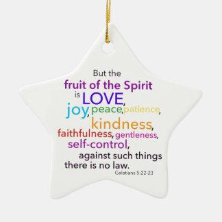 Fruta del ornamento del alcohol adorno navideño de cerámica en forma de estrella