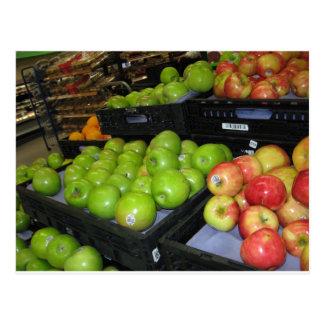 Fruta del parque zoológico 031.JPG-apples de Postal