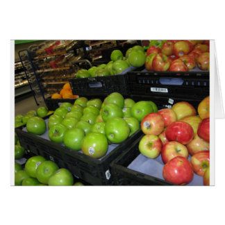 Fruta del parque zoológico 031.JPG-apples de Tarjeta De Felicitación