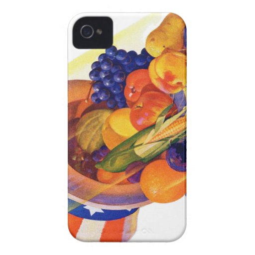 Fruta del tío Sam del kitsch del vintage del arte  Case-Mate iPhone 4 Protectores