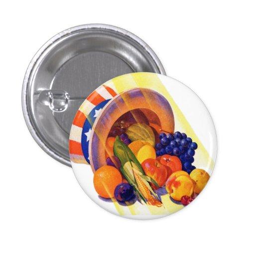 Fruta del tío Sam del kitsch del vintage del arte  Pin