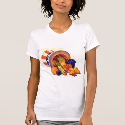Fruta del tío Sam del kitsch del vintage del arte  Camiseta
