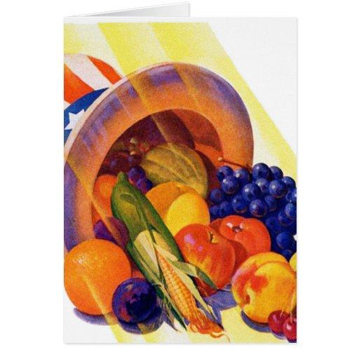 Fruta del tío Sam del kitsch del vintage del arte  Felicitación