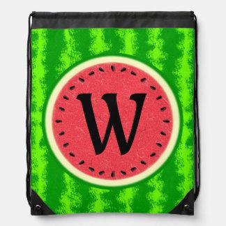 Fruta del verano de la rebanada de la sandía con mochilas