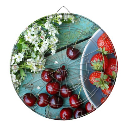 Fruta del verano tablero dardos