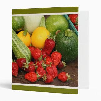 Fruta del verano y carpeta de Avery del relevo de
