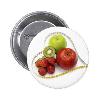 Fruta del verdor del nutricionista del botón pin redondo de 2 pulgadas