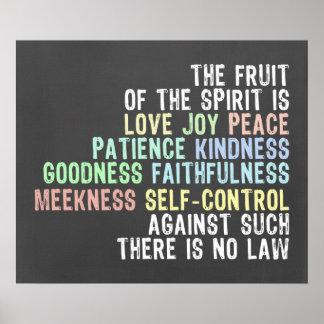 Fruta del verso de la biblia de la mirada de la pi poster