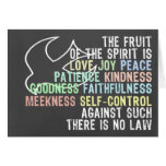 Fruta del verso de la biblia de la mirada de la pi felicitacion