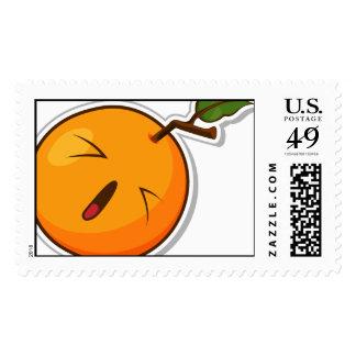 Fruta divertida con la expresión - naranja sellos
