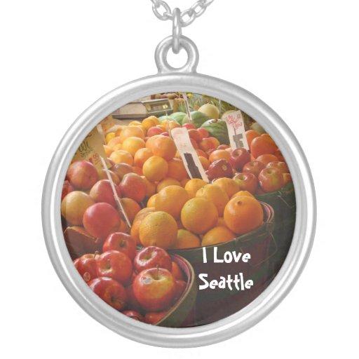 Fruta en el mercado de lugar de lucios grimpolas personalizadas