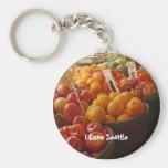 Fruta en el mercado de lugar de lucios llavero personalizado