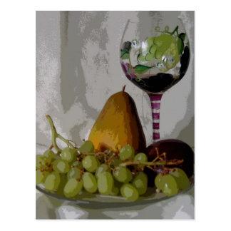Fruta en el vino postal