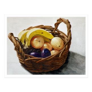 Fruta en una cesta tarjeta postal