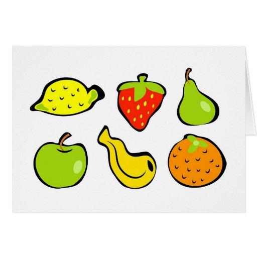 Fruta enrrollada tarjetón