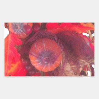 Fruta especial Basket.png del regalo de la Pegatina Rectangular