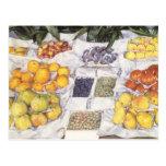 Fruta exhibida en un hacer una pausa Gustave Tarjetas Postales