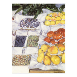 Fruta exhibida en un hacer una pausa Gustave Postales