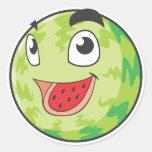 Fruta feliz de la sandía etiqueta