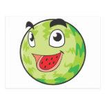 Fruta feliz de la sandía tarjeta postal
