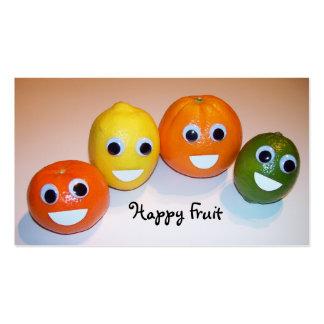 Fruta feliz tarjetas de visita