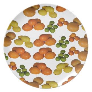 fruta fresca platos