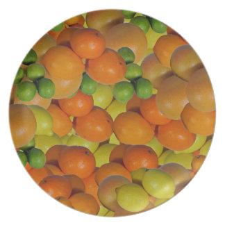 fruta fresca plato de cena