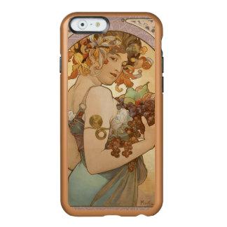 Fruta hermosa de la mujer de Nouveau Mucha del Funda Para iPhone 6 Plus Incipio Feather Shine