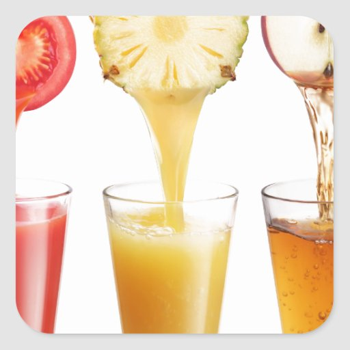fruta juice6.jpg pegatina cuadrada