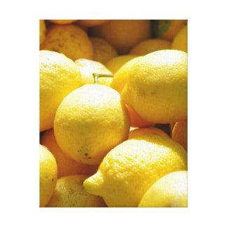 Fruta Limones Impresion En Lona