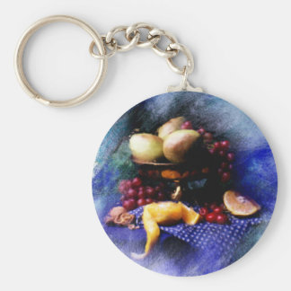 fruta llavero redondo tipo pin