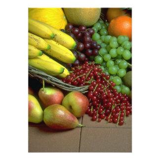Fruta mezclada invitacion personalizada