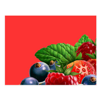 Fruta mezclada tarjetas postales