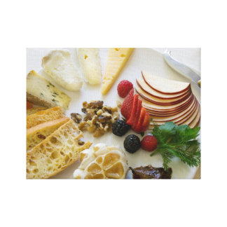 Fruta, nueces, y queso lona envuelta para galerias