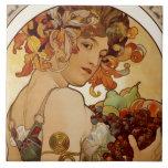 Fruta - otoño 1897 azulejo cuadrado grande