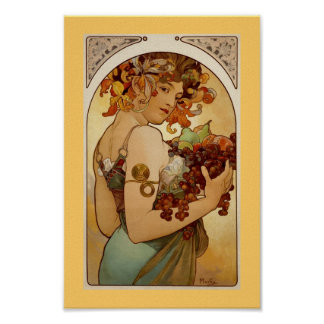Fruta - otoño c1897 póster