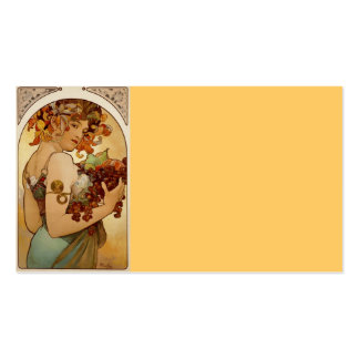 Fruta - otoño c1897 tarjetas de visita