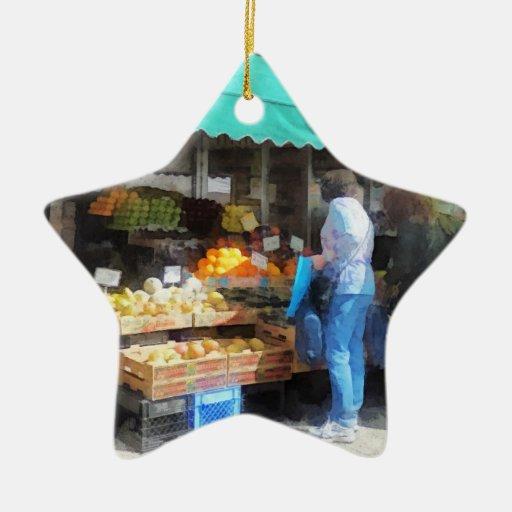 Fruta para la venta Hoboken NJ Adorno De Cerámica En Forma De Estrella