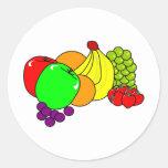Fruta Pegatinas Redondas
