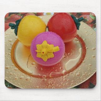 Fruta plástica tapete de ratón