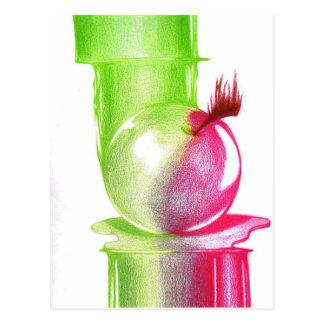Fruta prohibida tarjeta postal