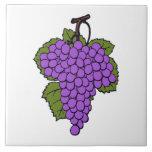 Fruta púrpura simple del racimo de la uva azulejo cuadrado grande