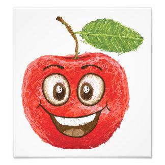 fruta roja feliz de la manzana impresiones fotográficas