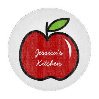 Fruta roja personalizada de la manzana del tablero tablas para cortar