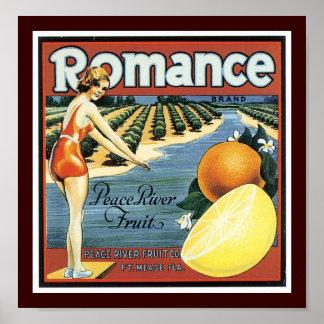 Fruta romántica de Peace River de la marca Póster