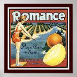Fruta romántica de Peace River de la marca Posters