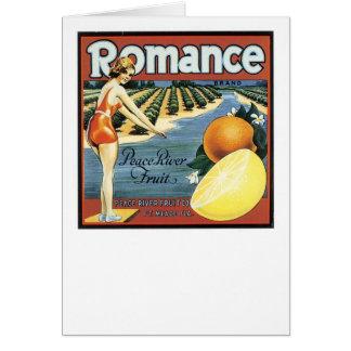 Fruta romántica de Peace River de la marca Felicitaciones
