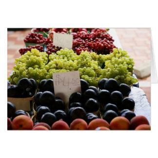 fruta tarjeta