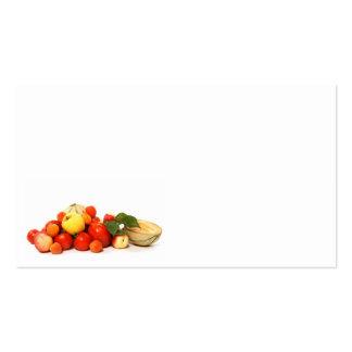 fruta tarjeta de visita