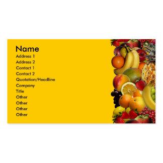 Fruta Tarjeta Personal